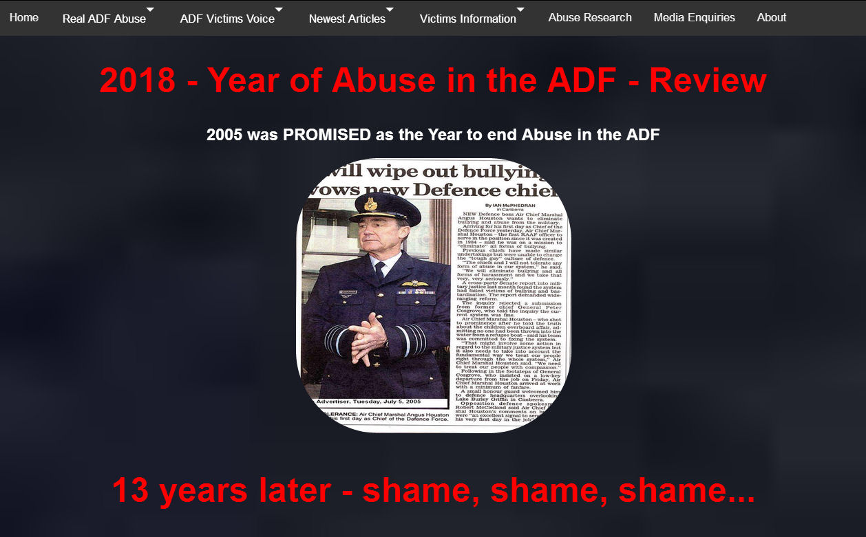 Research into Abuse in the ADF