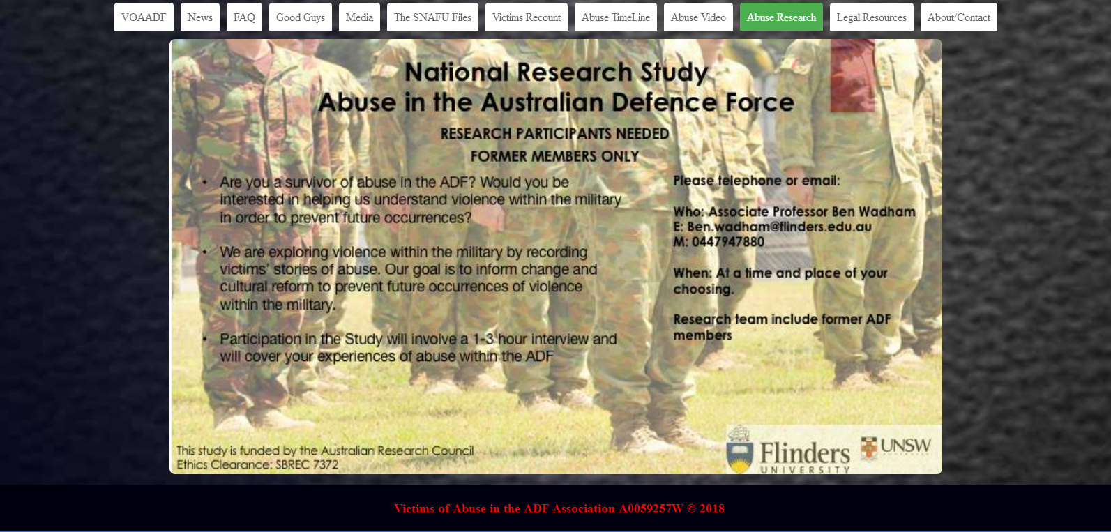 Abuse in the ADF - Historical Timeline